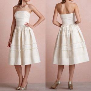 BHLDN Anthropologie Fondant Tea Dress-Buttercream